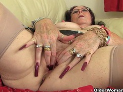 British granny zadi fucks herself with a dildo movies at find-best-lesbians.com