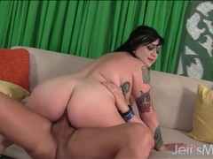 Goth bbw beauty on top of his big cock movies at find-best-hardcore.com