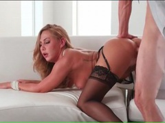 Classy black nylons on this lusty dick riding slut videos