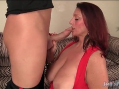 Bbw milf serves him cookies and a hot blowjob videos