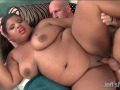White dick fucks slow and sexy into her black pussy videos