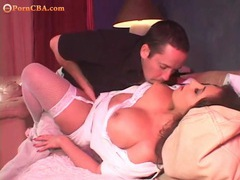 He is all over her incredible big titties movies at sgirls.net