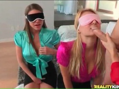 Three hotties in blouses sample a big cock guy movies at kilopics.net
