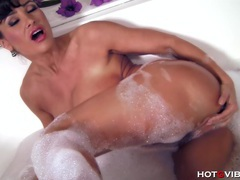Busty milf bubble bath videos