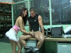 Quick handjob at work makes his dick feel good tubes