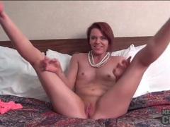 Sweet redhead wants to show how flexible she can be videos