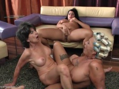 Ass licking lesbian trio with talented tongues working movies at sgirls.net