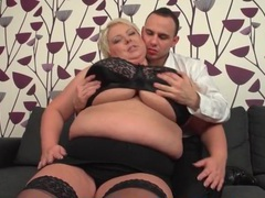 He has fun sucking on her bbw titties movies at kilotop.com