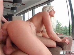 Double penetrated bleach blonde slut filled with cum videos