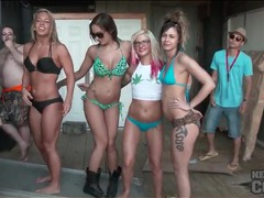 Bikini girls dance for the guys at spring break movies at find-best-videos.com