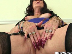 British grannies zadi and pearl fuck their old pussy with a dildo movies at lingerie-mania.com