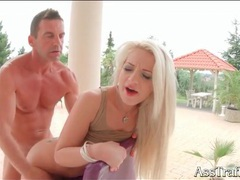 Joyful anal fucking with a naughty blonde girl videos