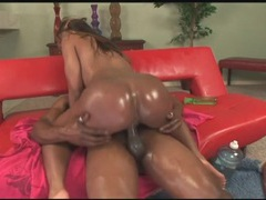 Lots of lube makes her fat black ass look sexy movies at sgirls.net