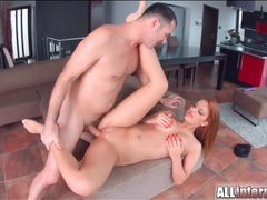 Fucking a shaved redhead gets him off inside her movies at sgirls.net