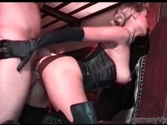 Leather boots are sexy on an ass fucked glamour girl videos