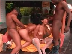 Black dicks satisfy brazilian pussies outdoors videos