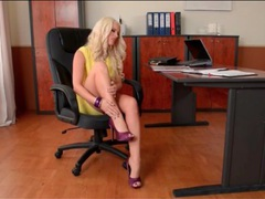 Office girl blanche bradburry has beautiful feet videos