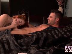 Redhead cheats while her boyfriend is a few feet away videos