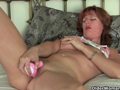 British mom silky thighs rubs her mature pussy movies at find-best-panties.com