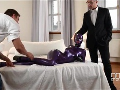 Fetish model latex lucy is fondled by two guys movies at find-best-panties.com