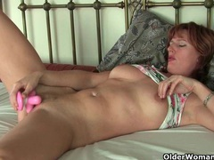 British mom silky thighs rubs her mature pussy movies at lingerie-mania.com