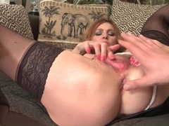 Deeply finger fucked milf sucks his cock erotically videos