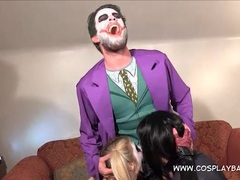 Batman villains fuck in a kinky costume threesome videos