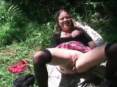 Schoolgirl in the woods for cock in her pussy videos