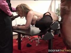 Nina hartley fucked on a desk by big black cocks videos