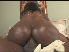 Bubble butt black girl rides his big cock videos