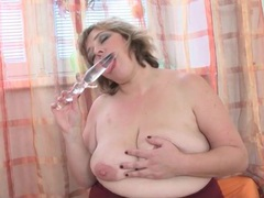Long glass dildo for her perfect bbw pussy movies at sgirls.net