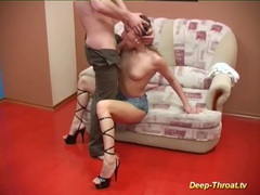 Her first extreme deepthroat movies at freekiloclips.com