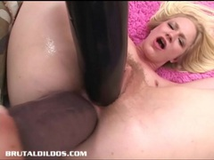 Aaliyah is double penetrated and gaped by brutal dildos videos