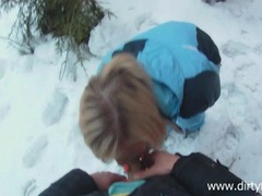 Blonde snow bunny fucked outdoors on a winter day movies at sgirls.net