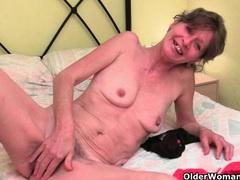 Grandma's pussy needs finger fucking movies at lingerie-mania.com