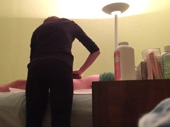 Waxing girl cleans his pubes and gives a handjob movies at freelingerie.us