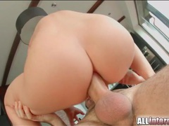 Slut impales her perfect asshole on his dick videos