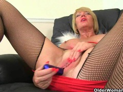 British milf amy gets turned on in fishnet tights videos