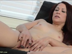 Sexy mom slips two fingers into her cunt videos