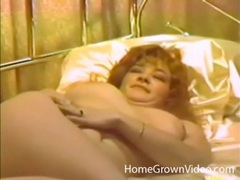 Vintage finger fucking with a sexy brunette wife clip
