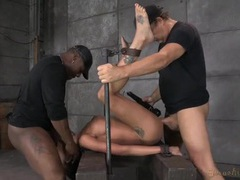 Raven bay suffers a bondage fuck and talks about it videos