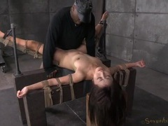 Rope bound marica hase fucked by a black cock videos
