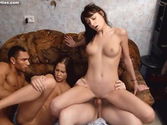 Teens crave big cock in an interracial foursome movies at kilosex.com