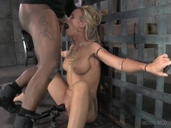 Bound slave ordered to open wide for face fucking movies at kilotop.com