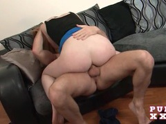 Pale redhead sabrina jay grinds and rides his cock videos