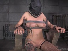 Bound and hooded girl wants to be released so badly videos