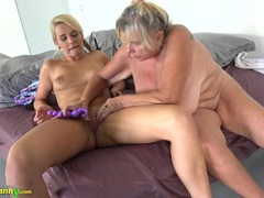 Fresh young lady and a horny granny fool around movies