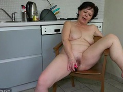 Solo grandma fucks a pink toy into her tight vagina videos