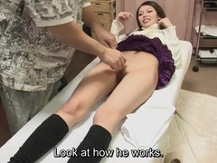 Sweater girl gets her asian pussy waxed tubes