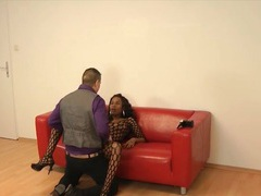 Hot casting couch sex with a black girl in lingerie movies at sgirls.net